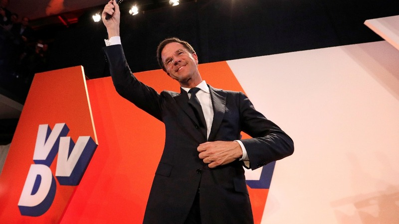 Early returns give Dutch PM Rutte big lead over far-right Wilders