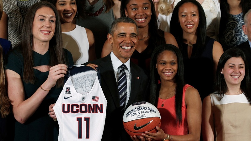 UConn women Huskies on an astounding drive for five