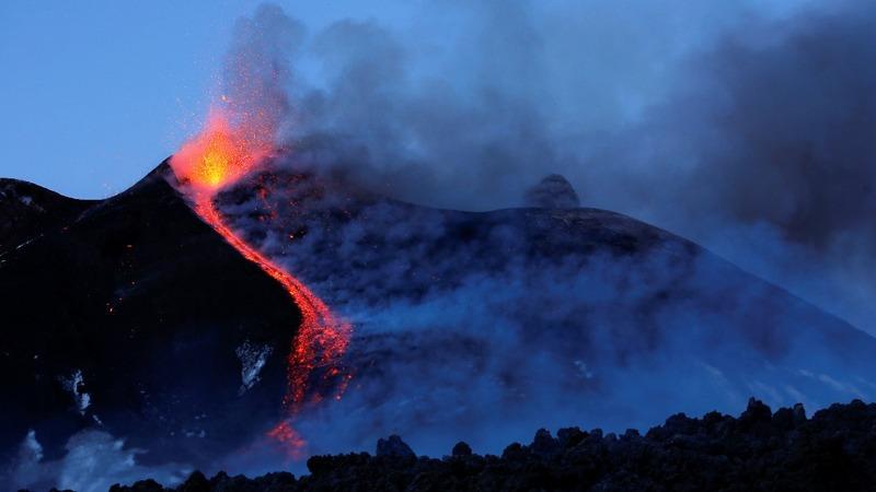 Volcanic explosion on Mount Etna injures 10