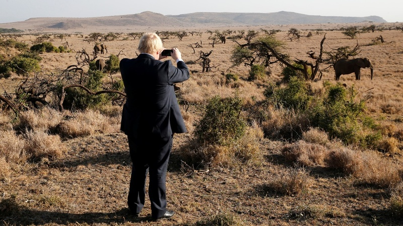 INSIGHT: Boris Johnson visits elephants in Kenya