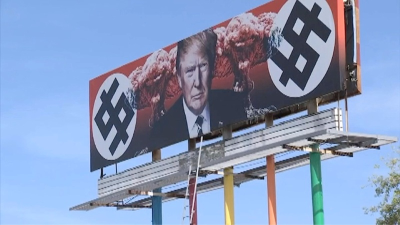 Anti-Trump mural stirs controversy in Arizona