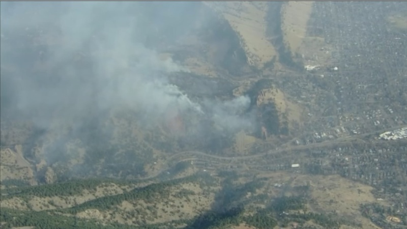 Over 1,000 Colorado homes evacuated as wildfire erupts