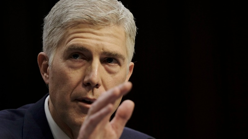 Gorsuch pledges independence from Trump