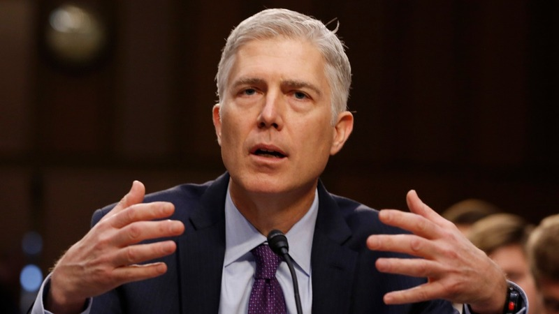 Gorsuch proclaims his independence from Trump