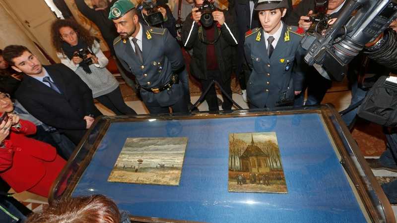 Van Gogh art returns after major mafia heist