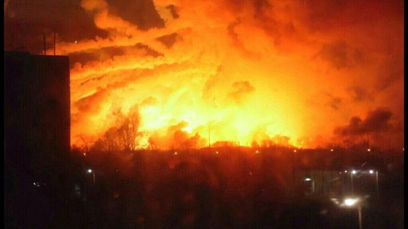 'Saboteurs' blow up Ukraine arms dump