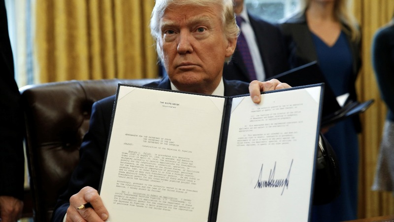 Trump sets Keystone pipeline construction in motion