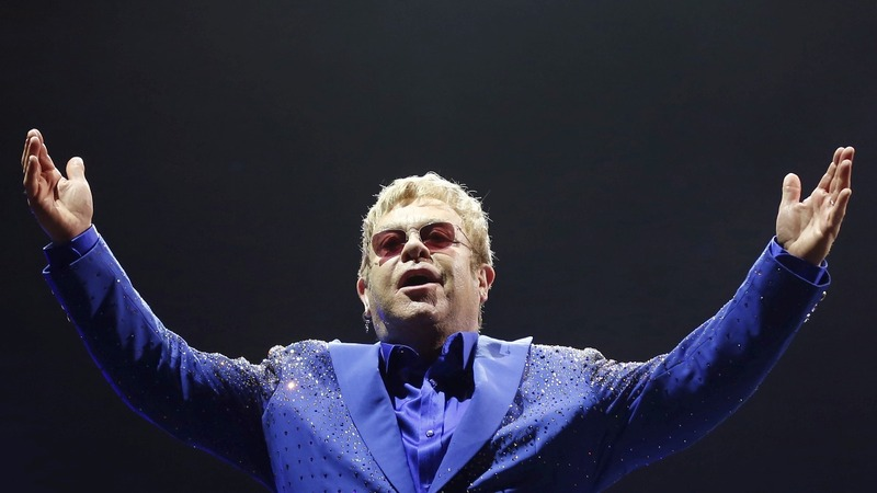 Singer Elton John celebrates 70th birthday