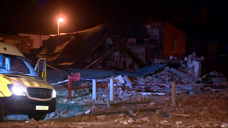 Gas explosion in Liverpool destroys buildings