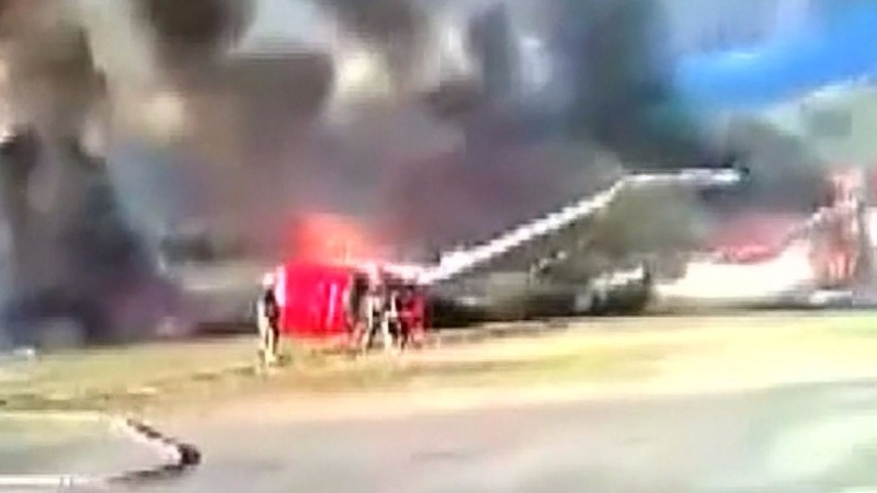 INSIGHT: Passenger jet catches fire in Peru
