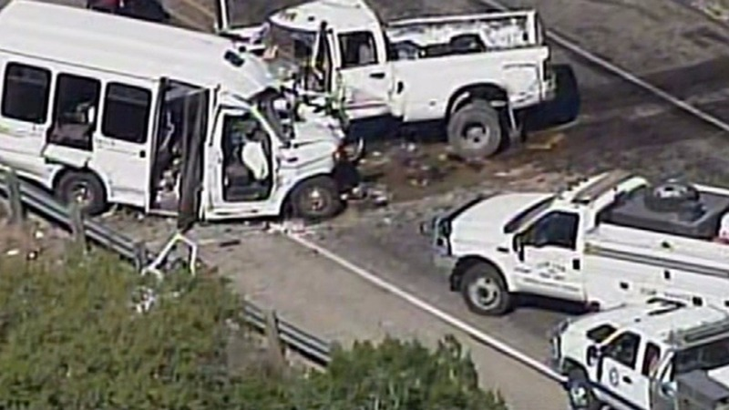 At least 12 dead in Texas church bus crash