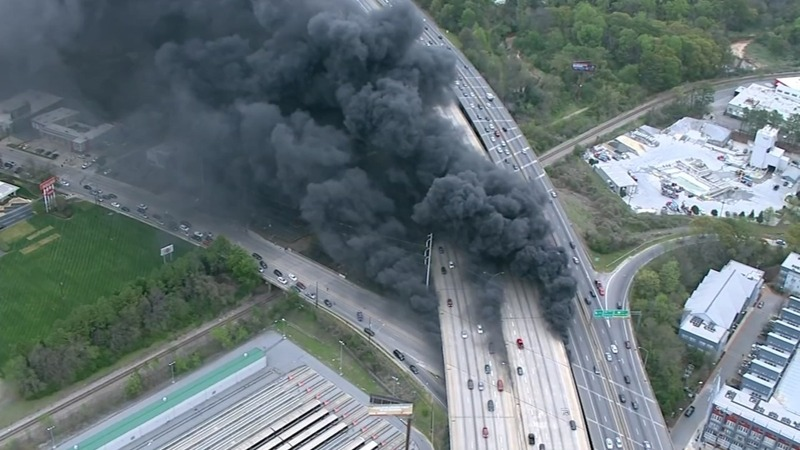 Atlanta highway closed after collapse