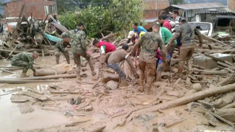 Colombia landslide kills 154, injures more