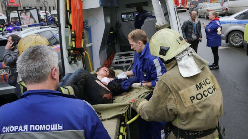At least 10 dead in St Petersburg metro blast