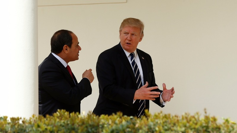 Trump courts Egypt's Sisi for ISIS fight