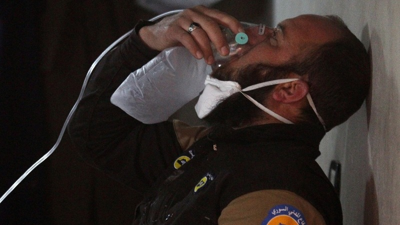 World anger at suspected Syria gas attack
