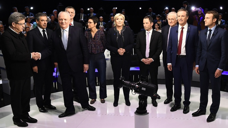 France's Macron and Le Pen clash in TV debate