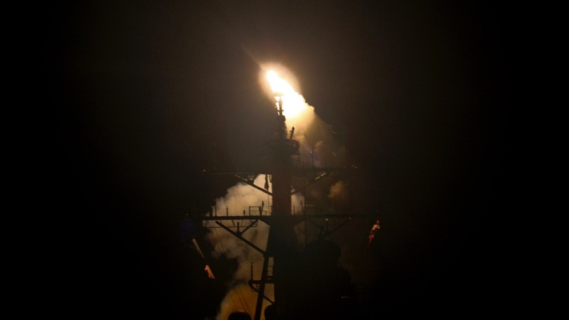 U.S. launches missile strike on Syrian airbase