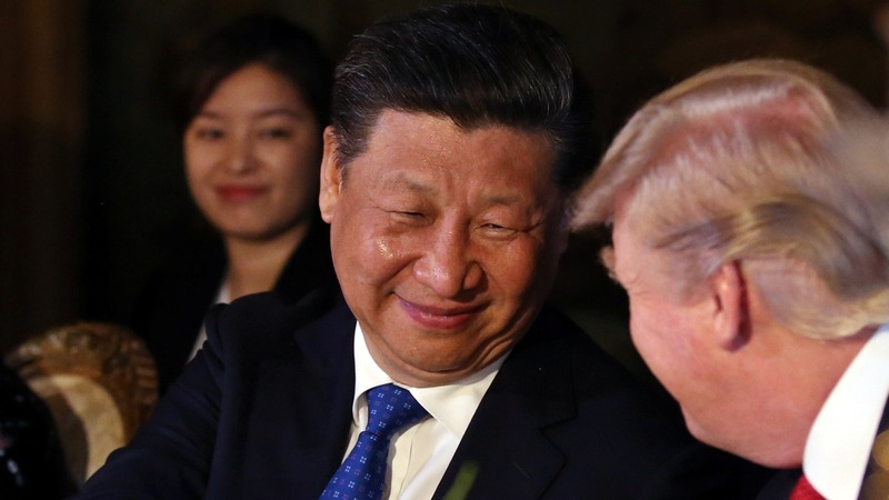 A show of military force as Trump, Xi meet