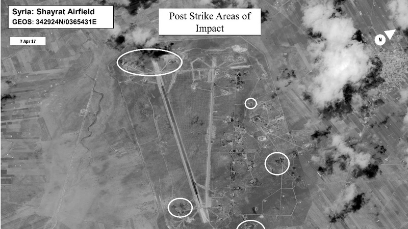 Up to 20 Syrian aircraft destroyed in U.S. missile strikes