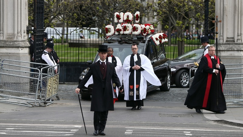 Police line streets for Westminster attack funeral