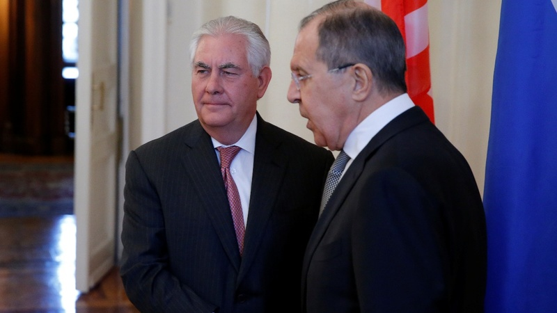 Tillerson meets Lavrov for tense talks