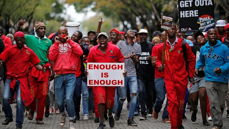 South African protesters urge Zuma to quit