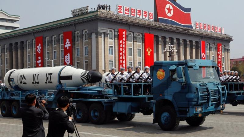 North Korea's festive parade of military might