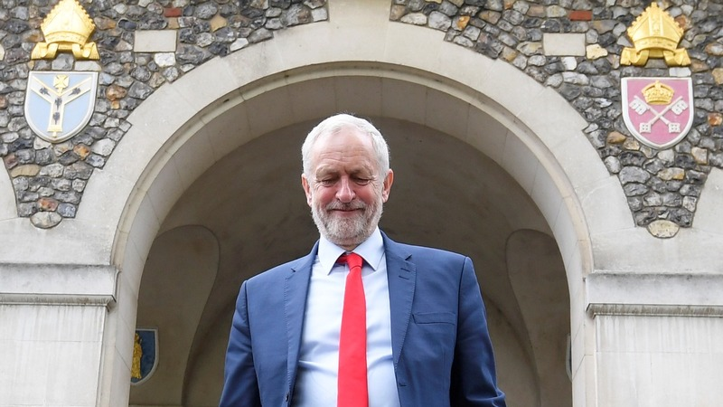 Corbyn rails against rivals at campaign launch