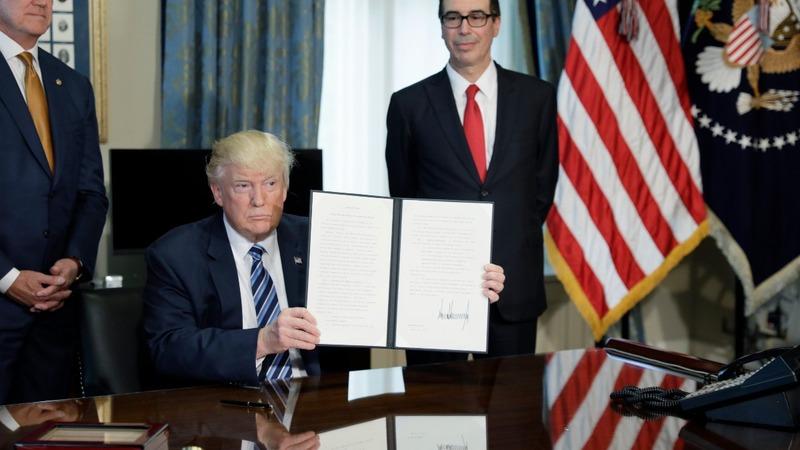 VERBATIM: Trump orders review of Dodd-Frank reforms