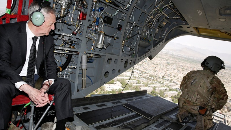 Mattis arrives in Afghanistan amid a major military shakeup