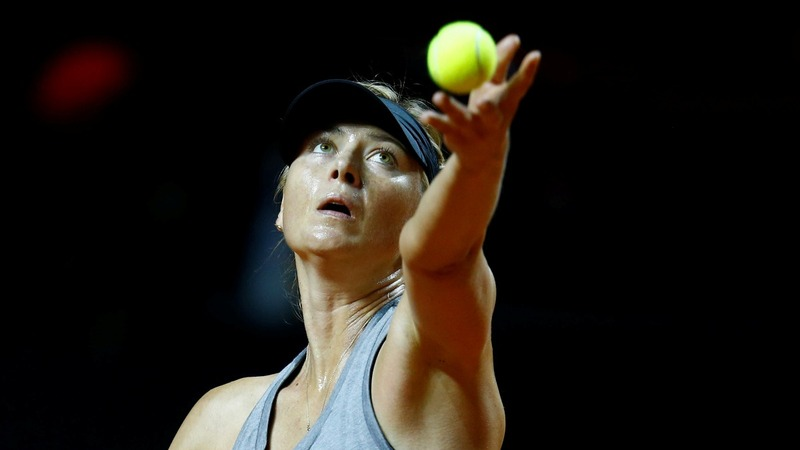 Sharapova back on tennis court after ban