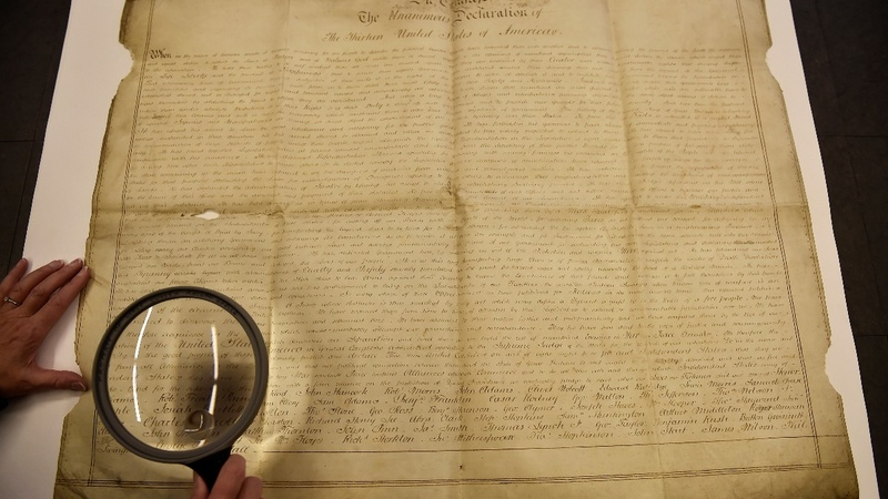 Declaration of Independence copy found in UK