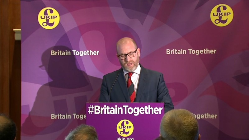 Anti-racism protesters storm UKIP launch