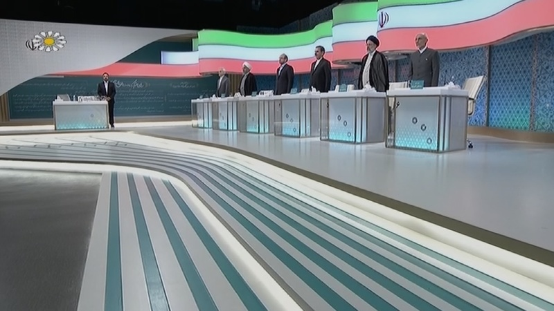 Iran's presidential rivals face off in pre-election debate