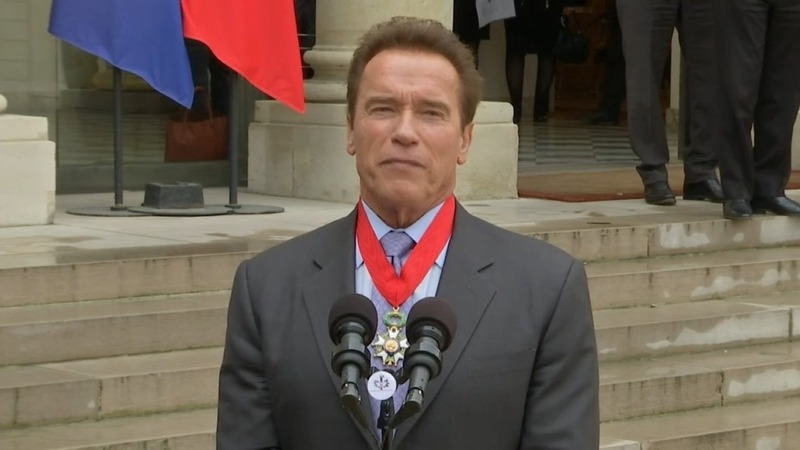 INSIGHT: Schwarzenegger receives Legion of Honour