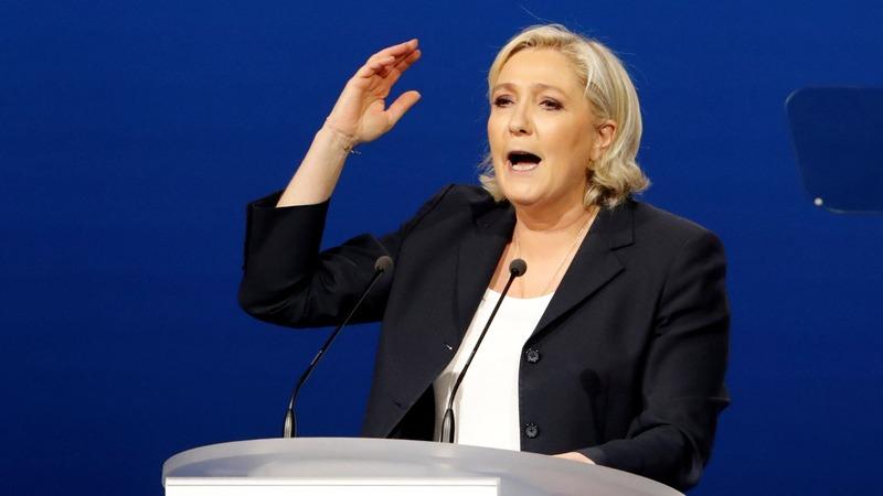 France's Le Pen lifts parts of rival's speech