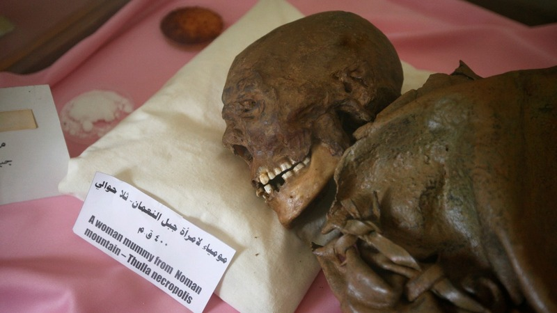 Mummies rot in war-torn Yemen museum
