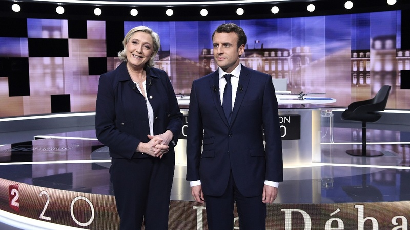 French presidential rivals clash in TV debate