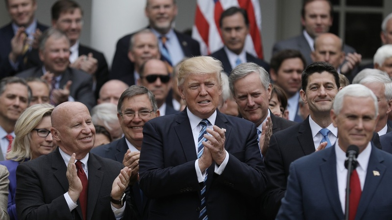VERBATIM: 'Am I doing okay? I'm president!' Trump hails healthcare vote
