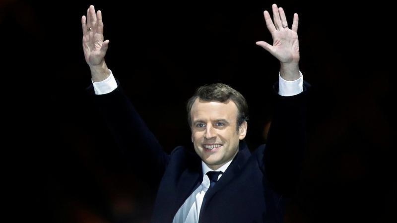 Equities stumble as Macron win priced in