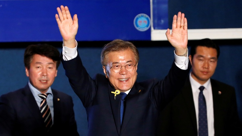South Korea's Moon sweeps to presidential victory