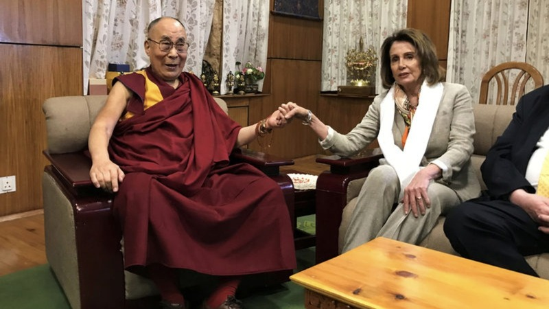 Nancy Pelosi leads Dalai Lama visit