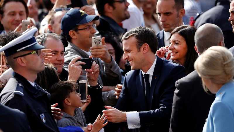 Day 1 as president: Macron straight to Berlin