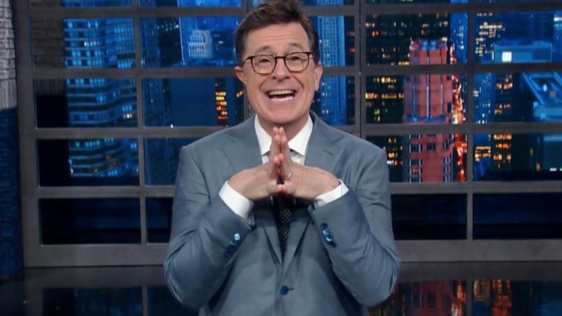 VERBATIM: Colbert to Trump: 'I won!'