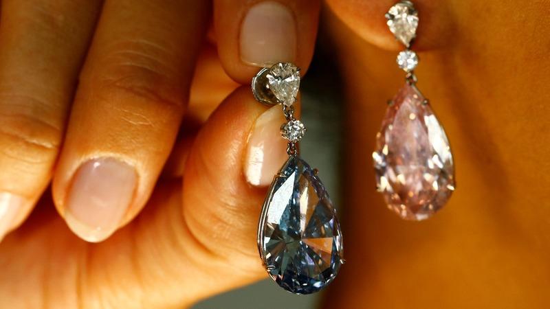 Diamond earrings fetch $57m in Geneva