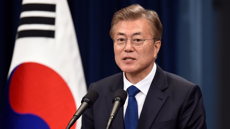 South Korea's Moon warns of clash with North