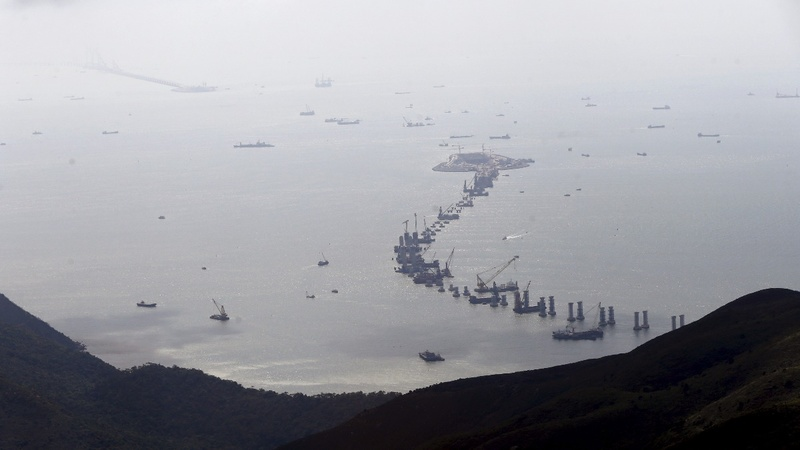 Troubled waters for China's mega bridge to Hong Kong
