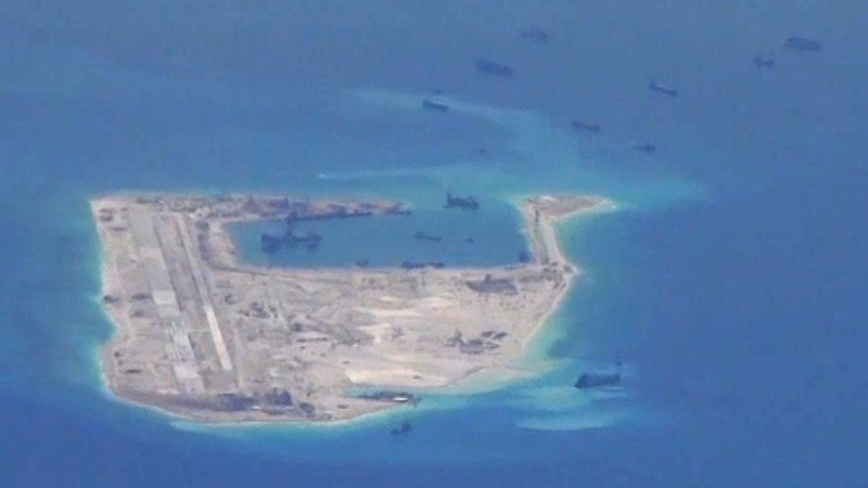China puts rocket launchers on reclaimed reef