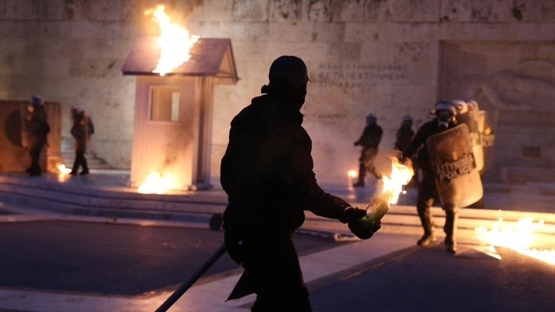 Riots engulf Greek parliament as bailout measures pass
